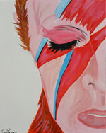 My Paint Party - David Bowie painting